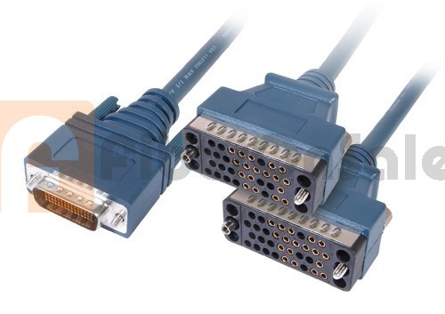 Cisco 72-1356-01 CAB-2V35FC LFH60 Male to 2 V.35 DCE Female 3M Cable