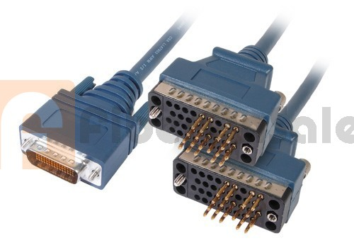 Cisco 72-1354-01 CAB-2V35MT LFH60 Male to 2 V.35 DTE Male 3M Cable