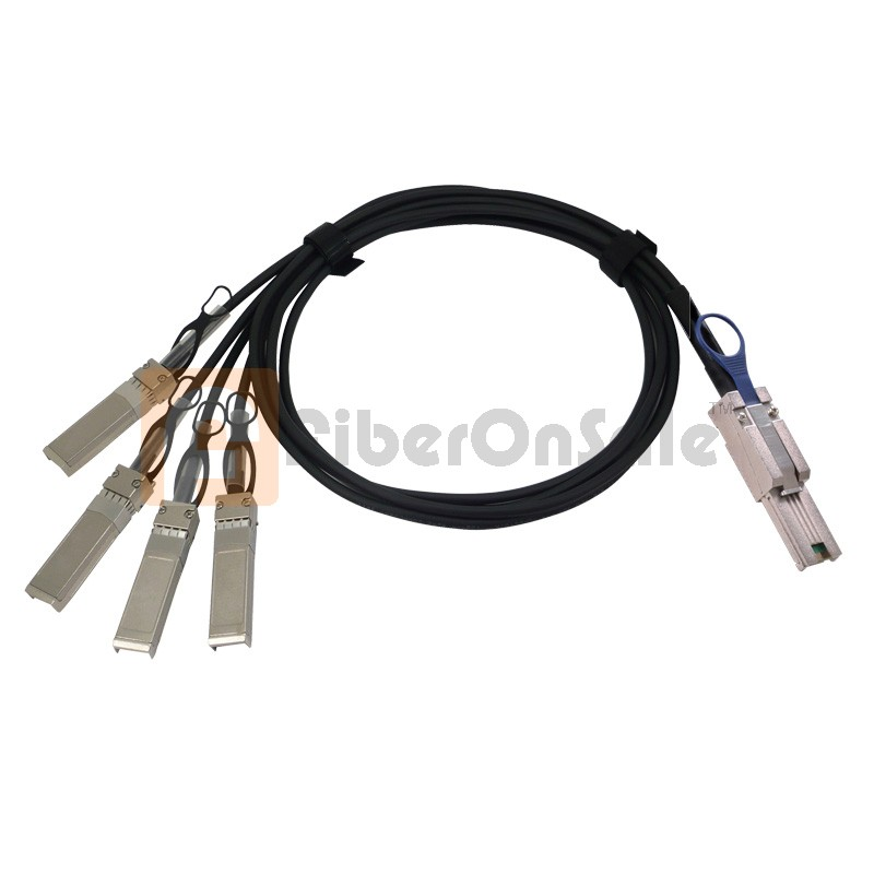 50CM passive AWG30 MiniSAS(SFF-8088) to 4 SFP Breakout Cable