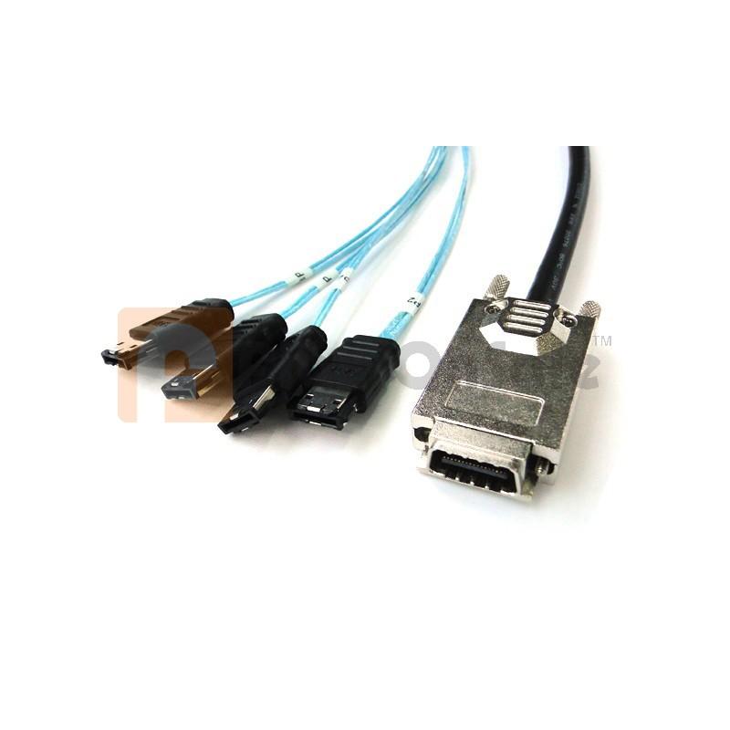 1M SAS(SFF-8470) to 4 ESATA cable