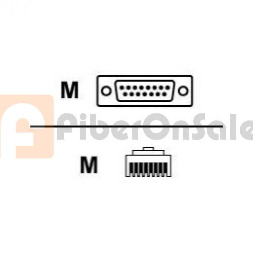 Cisco 72-1337-01 CAB-E1-RJ45DB15N RJ45 to DB15 Male Null 3M Cable