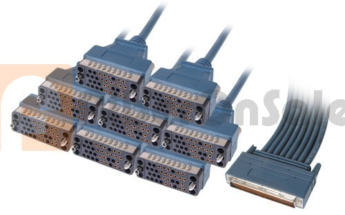 Cisco CAB-OCT-V35-FC 8 Lead Octal Cable and 8 Female V.35 DCE Connectors