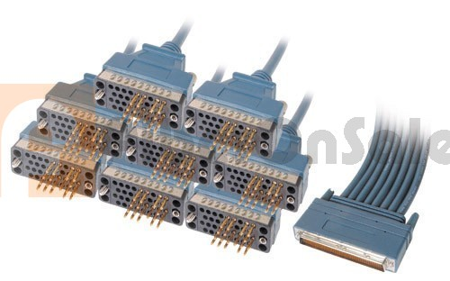 Cisco 72-1102-01 CAB-OCT-V35-MT 8 Lead Octal Cable and 8 Male V.35 DTE Connectors