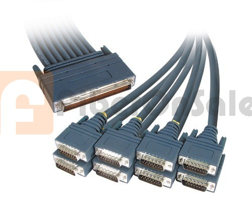 Cisco CAB-OCT-X21-MT 8 Lead Octal Cable and 8 Male X21 DTE Connectors