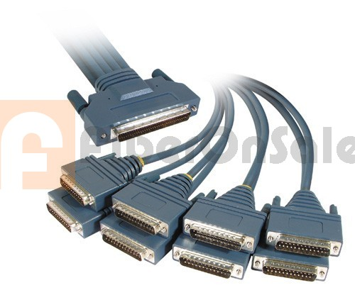 Cisco 72-0990-01 CAB-OCTAL-MODEM HPDB 68 Male to 8 DB25 Male 3M Cable