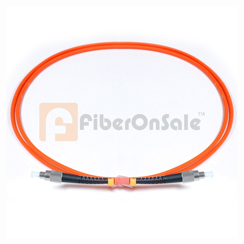 FC-FC Simplex OM2 50/125 Multimode Fiber Patch Cable