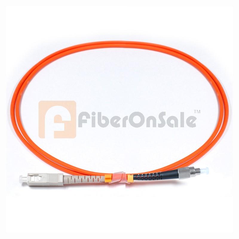 SC-FC Simplex OM2 50/125 Multimode Fiber Patch Cable