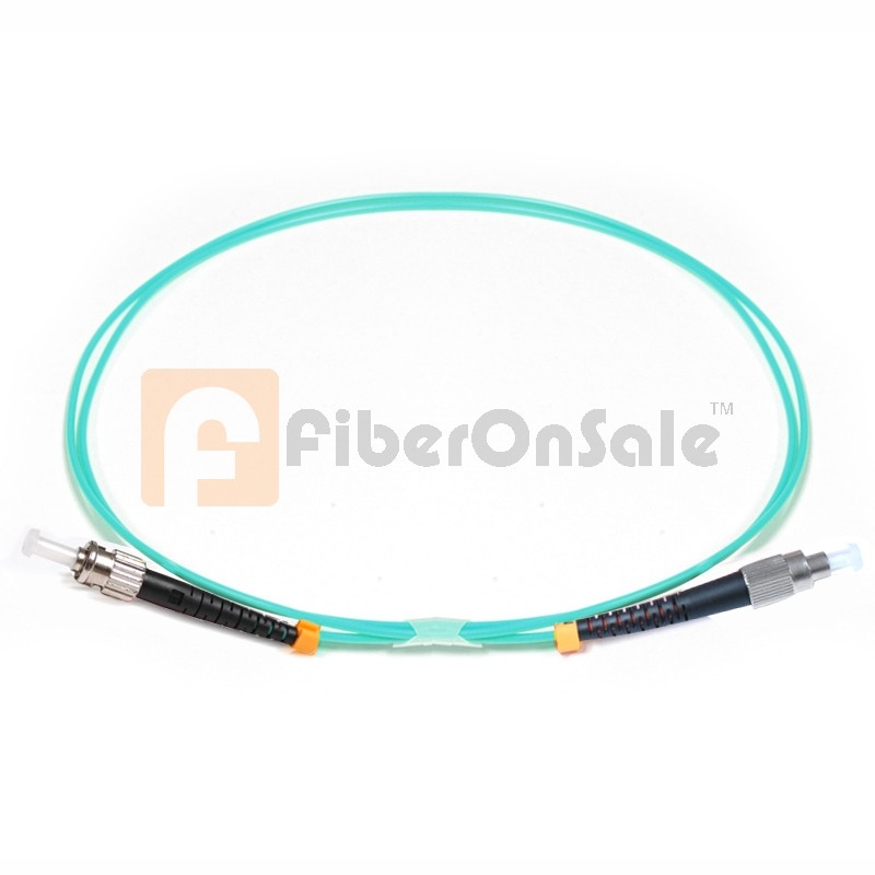 FC-ST Simplex 10Gb OM3 50/125 Multimode Fiber Patch Cable