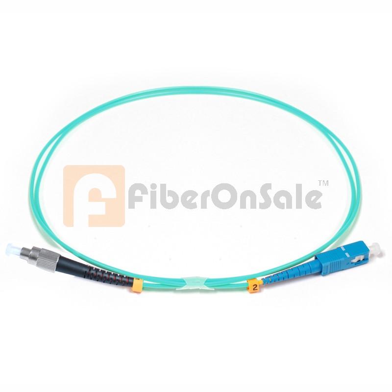 SC-FC Simplex 10Gb OM3 50/125 Multimode Fiber Patch Cable