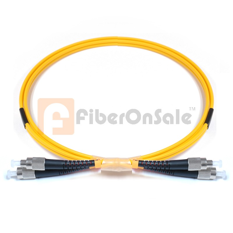 FC-FC Duplex OS1 9/125 Singlemode Fiber Patch Cable