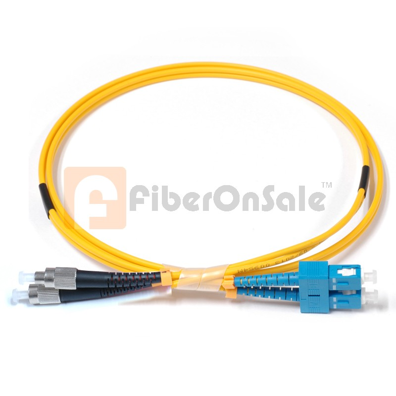 SC-FC Duplex OS1 9/125 Singlemode Fiber Patch Cable