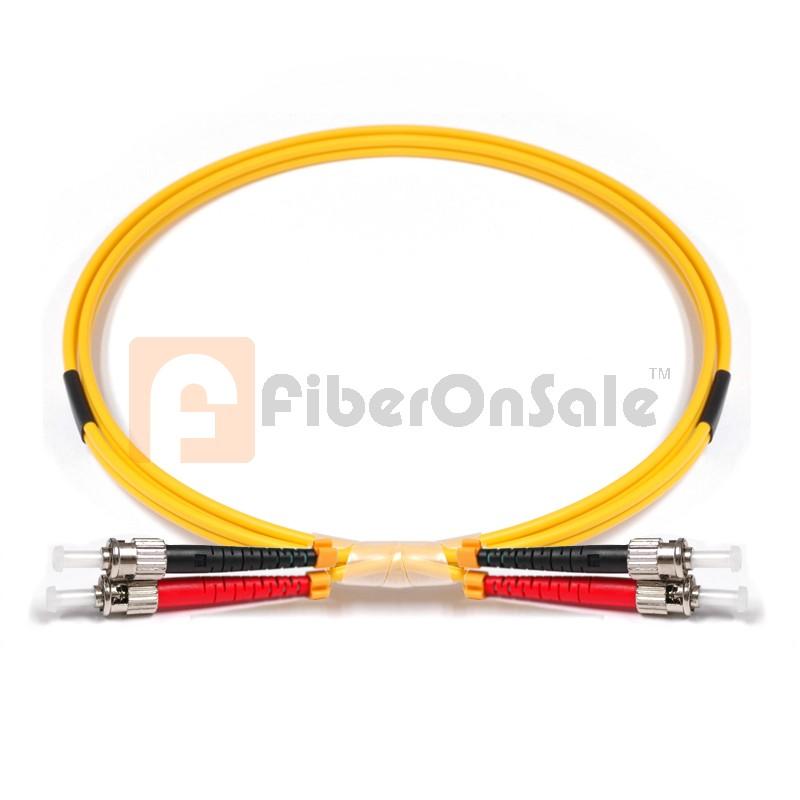 ST-ST Duplex OS1 9/125 Singlemode Fiber Patch Cable