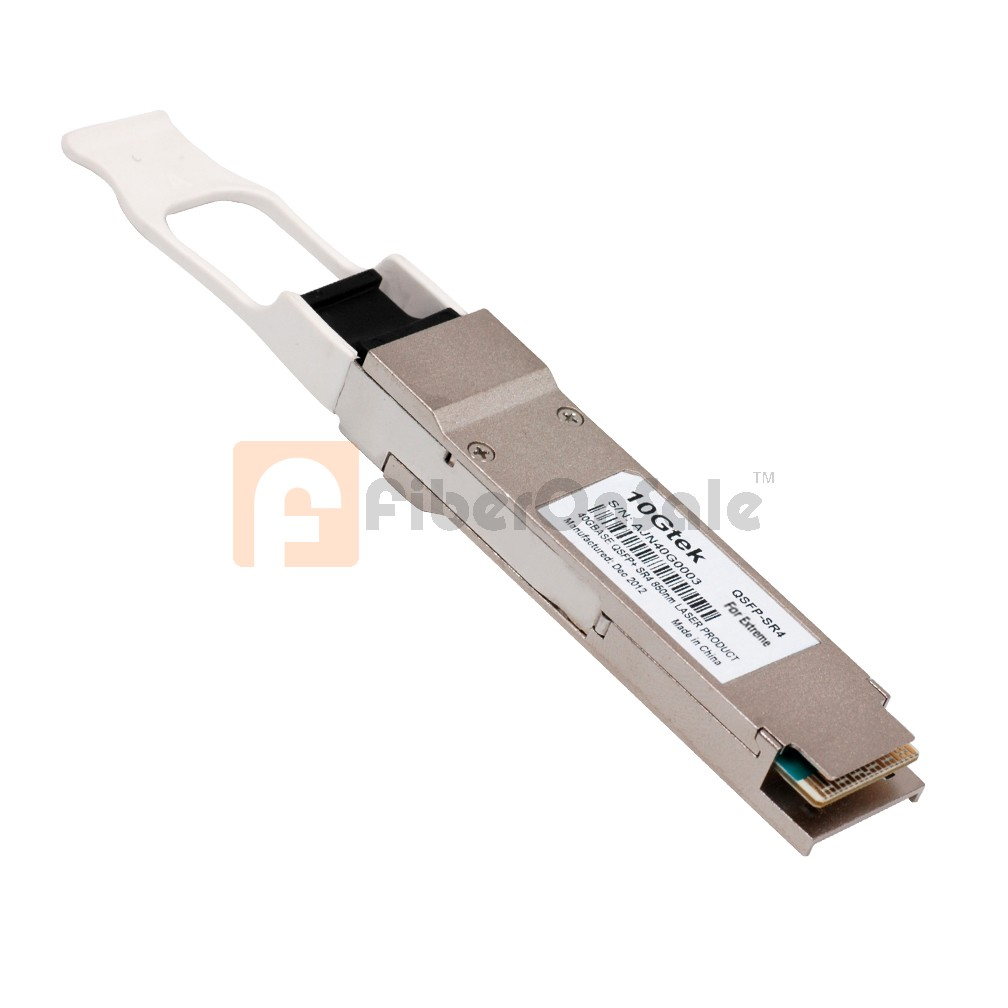 Cisco compatible QSFP-40G-SR4, 40GBASE-SR4 QSFP+ transceiver module for MMF, 4-lanes, 850-nm wavelength, 12-fiber MPO/MTP connector
