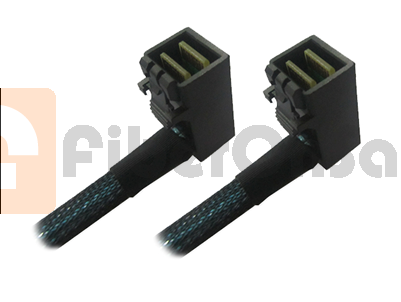 HD MiniSAS SFF-8643(90°Angle) internal cable 0.5 Meter