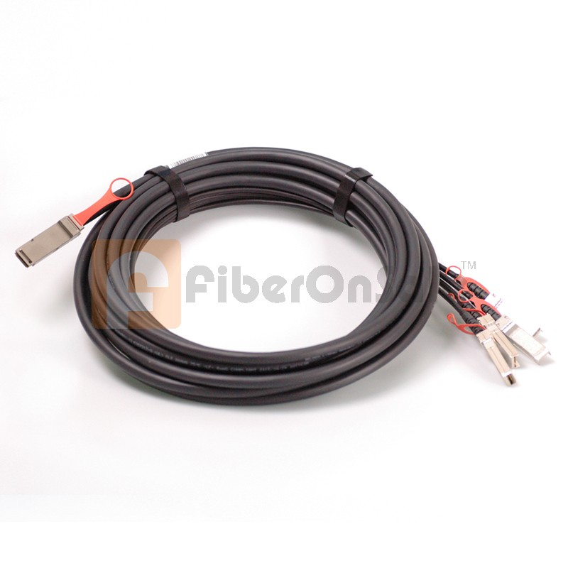 7M AWG26 40GBASE QSFP+ to 4 SFP+ Breakout DAC Copper Active Cable