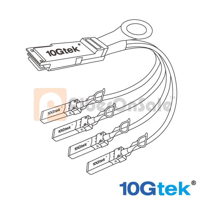 100G QSFP28 to 4x 25G SFP28 Copper Breakout Cable, 2-Meter