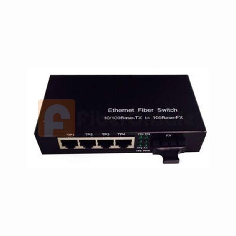 COV-SF05A-S-40, 10/100M Ethernet Singlemode Fiber Converter, (4*UTP + 1*SMF Port)