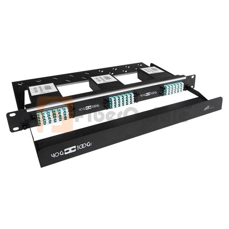 72 Core High Density MPO Fiber System, 1U, 6 ports MPO to 72 ports LC connectors, OM3, MMF