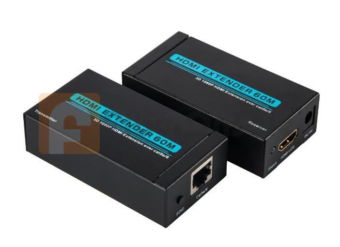 HDMI TO RJ45 EXTENDER 60 Meter Full HD 1080P