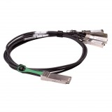 1M Brocade compatible passive 40Gbase QSFP+ to 4 SFP+ Breakout Direct Attached Cable