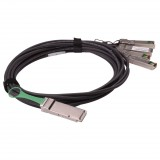 3M Brocade compatible passive 40Gbase QSFP+ to 4 SFP+ Breakout Direct Attached Cable