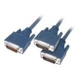 Cisco 72-1355-01 CAB-2X21MT LFH60 Male to 2 X.21 DB15 DTE Male 3M Cable