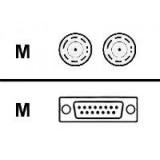 Cisco CAB-E1-TWINAX DB15M to 2 Twinax 3M Cable