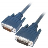 Cisco 72-0789-01 CAB-X21MT LFH60 Male to X.21 DB15 DTE Male 3M Cable