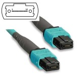 8 Fibers 10G OM4 MTP/MPO Trunk Cable 3.0mm LSZH/Riser