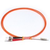 LC-ST Simplex OM1 62.5/125 Multimode Fiber Patch Cable