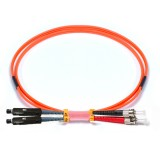 ST-MU Duplex OM1 62.5/125 Multimode Fiber Patch Cable