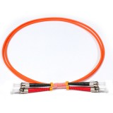 ST-ST Simplex OM1 62.5/125 Multimode Fiber Patch Cable