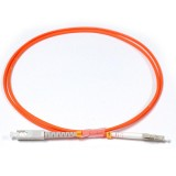 SC-LC Simplex OM2 50/125 Multimode Fiber Patch Cable