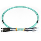 FC-MU Duplex 10Gb OM3 50/125 Multimode Fiber Patch Cable