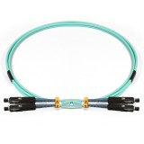 MU-MU Duplex 10Gb OM3 50/125 Multimode Fiber Patch Cable