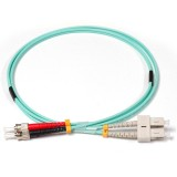 SC-ST Duplex 10Gb OM3 50/125 Multimode Fiber Patch Cable