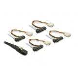 Internal Mini SAS to 4xSAS 29pin(power) cable 0.5 Meter