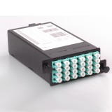 24 Core High Density Fiber System MPO Box, 2 ports MPO to 2x 12 ports LC connectors, OM3, MMF