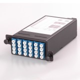 24 Core High Density Fiber System MPO Box, 2 ports MPO to 2x 12 ports LC connectors, SMF