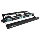 72 Core High Density MPO Fiber System, 1U, 6 ports MPO to 72 ports LC connectors, OM3, MMF